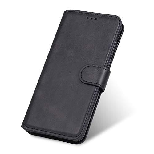 GOGME Hülle für Oppo Reno 4 Pro 5G (Oppo Reno4 Pro 5G) Hülle, Handyhülle Flip Hülle Brieftasche Schutzhülle, Premium Leder mit Ständer Funktion und Kartenfach und Magnetic Snap Cover, Schwarz