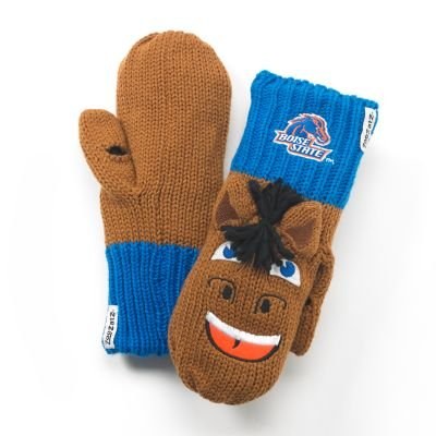 Zoozatz Boise State Broncos Knit Mascot Texting Mittens