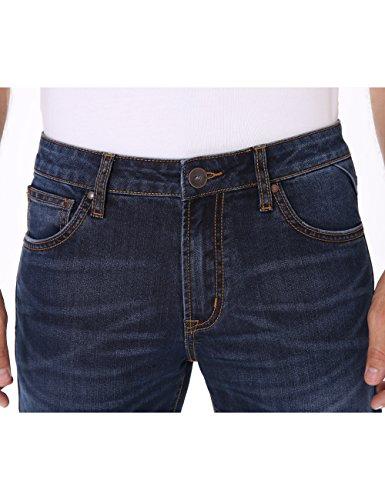 Indigo alpha Mens Stretch Jeans,Lightweight Straight Fit Jeans for Men Comfortable Blue Denim Classic Men Jeans 31W x 32L