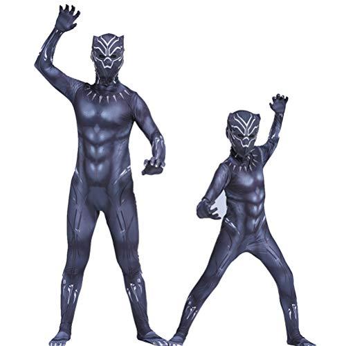 GYMAN Disfraces Pantera Superhroe Avengers 3 Negro Nio De Halloween Cosplay Carnival Mono, para La Pelcula del Partido Complementos Disfraz Onesies De Vestuario,140