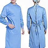 Traje de Protección General Traje de Algodón Bata de Aislamiento Médico Reutilizable para Suministros de Primeros Auxilios (Azul)