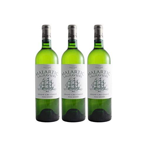 Château Malartic-Lagravière Weißwein 2012 - g.U. Pessac-Léognan - Bordeaux Frankreich - Rebsorte Sémillon, Sauvignon Blanc - 3x75cl