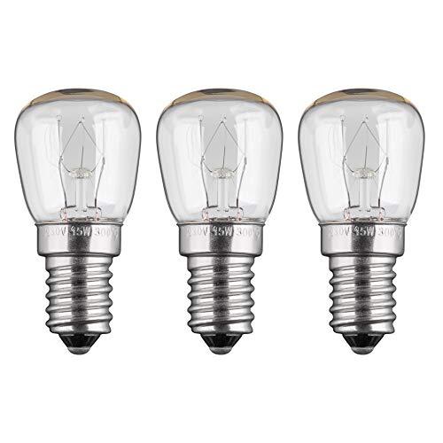 3 Stück 15W Backofenlampe Glühbirne Glühlampe Backofen E14, 230V, Backofenglühbirne