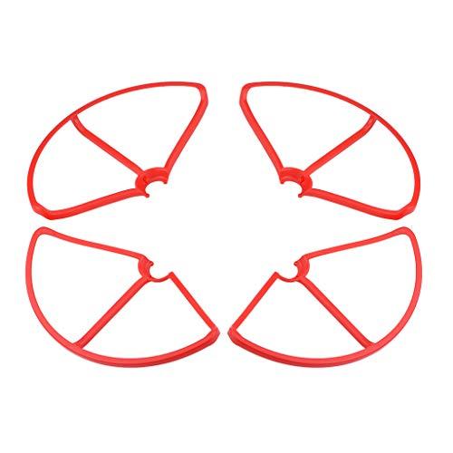 Bonarty 4X Puntelli per Elica Guard Bumper Protector per Xiaomi Mi Drone, 4K Red