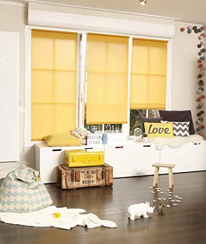 MADECOSTORE Store Enrouleur Tamisant, Jaune, L70 x H190cm (Tissu L67cm)