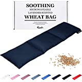 Wheat Bag for Pain Relief - Large Soothing Heat Pack Microwaveable - Wheat and Lavender - Heated Neck Warmer for Neck and Shoulders, Period Pain Relief and Back Pain - Comfortable
