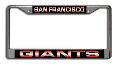 Rico Industries MLB San Francisco Giants Laser-Cut Chrome Auto License Plate Frame