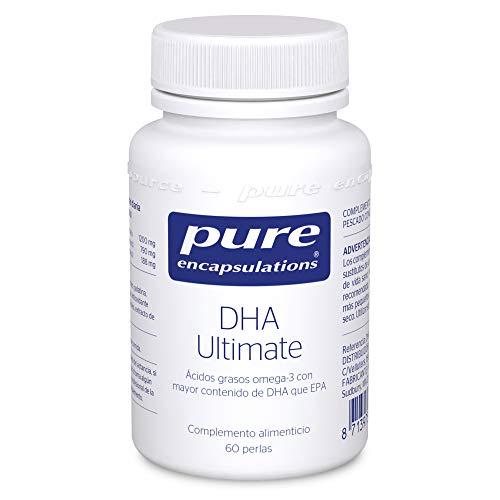 Pure Encapsulations - DHA Ultimate 51g - Ácidos Grasos Omega 3 con Alta Concentración de DHA - Complejo DHA y EPA 1200mg Función Cognitiva - 60 Cápsulas