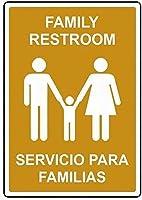 アートサインブリキの金属サイン、家族のトイレSeriicio