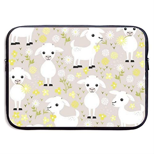 Baby Goats Laptop Sleeve Shoulder Bag Protective Carrying Case Compatible with 13 Inch Slim Sleeve