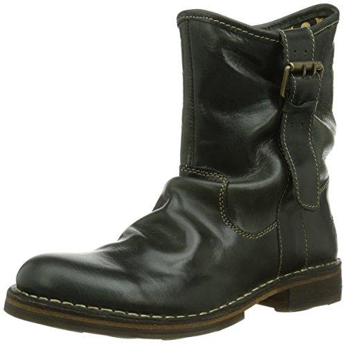 FLY London Damen NOTA Biker Boots, Grau (Diesel 009), 39 EU