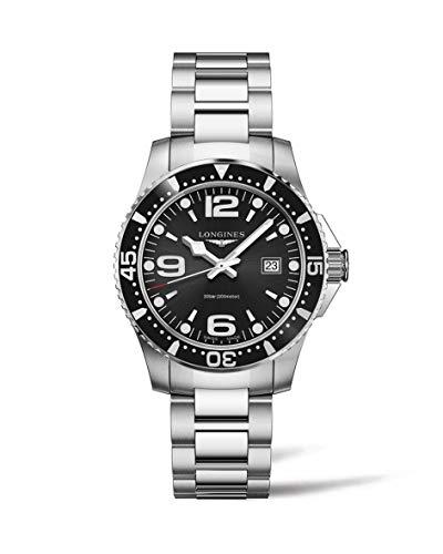 orologio longines uomo Longines orologio HydroConquest 39mm nero acciaio uomo quarzo L3.730.4.56.6