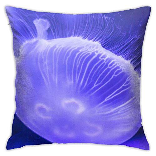 JONINOT Doble Cojines Fundas 18' Medusa Azul Funda de Almohada Suave para la Piel