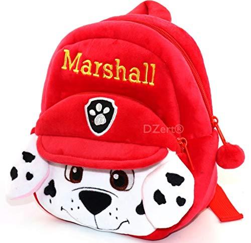 Dzert Soft Plush Red Cartoon Backpacks for Kids