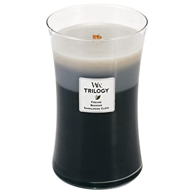 WoodWick Candle Warm Woods Trilogy Large Jar