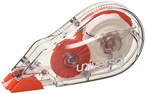 UNV75606 - Universal Correction Tape with Two-Way Dispenser, Non-Refillable, 1/5
