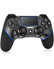 RegeMoudal Wireless Controller für PS4/PS4 Slim/PS4 Pro mit Double Vibration Shock und Audio Functions,Non-slip 6-axis Gamepad USB Controller for PC