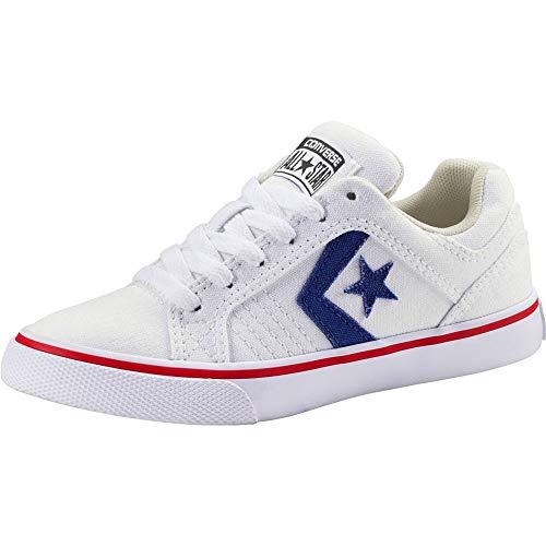 Converse Unisex-Kinder Gates OX Sneakers, Mehrfarbig (White/Blue/Red 100), 34 EU