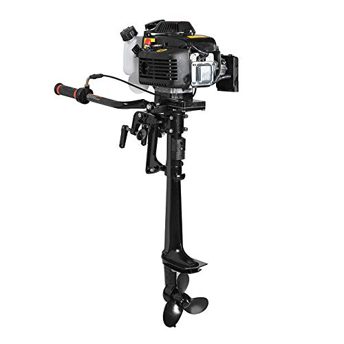 Enshey 3.6HP Outboard Motor 4 Stroke Inflatable 55CC Fishing Boat Engine with Air Cooling System - for Inflatable Boats, Fishing Boats, Sailboats, and Small Yachts - Suitable for Freshwater/Saltwater