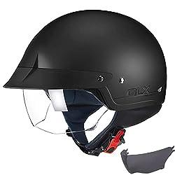 GLX Scooter Motorcycle Half Helmet