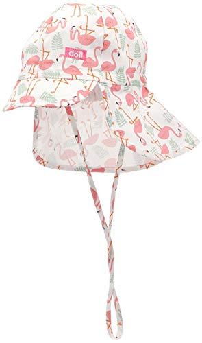 Döll Baby-Mädchen Bindemütze mit Schirm und Nackenschutz Mütze, Rosa (Fuchsia Pink|Pink 2023), (Herstellergröße: 47)