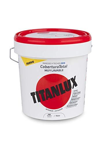 Titanlux - Pintura plástica Cobertura total, Blanco, 4L (ref. 06T100005)