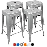 "UrbanMod 24"" Counter Height Bar Stools 330lb Capacity Gray..."