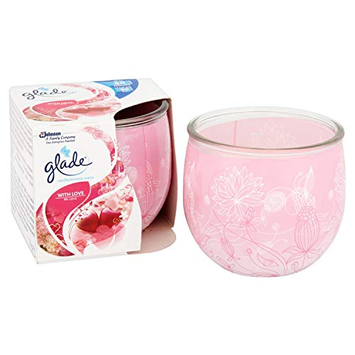 Glade Candle Scented Air Freshener, pack of 3 (With Love)