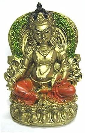 Resina Feng Shui Lord Kuber Ídolo, estándar, multicolor Lord Kuber ídolo para ganancias, éxito, buena suerte y prosperidad