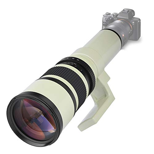 Pomya Teleobjetivo, Profesional 500mm F6.3 Teleobjetivo Foco Fijo para Cámaras Réflex Digitales DSLR para Canon para Nikon para Sony para Pentax(T2-AI)