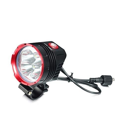 NOLOGO Yg-ct Fahrrad-vorderes Licht, Radfahren Licht-Fahrrad-Zubehör Fahrrad Lampe Scheinwerfer wasserdicht mit Akku (Farbe : Schwarz)