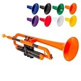 pInstrument pTrumpet Plastic Trumpet - Mouthpieces and Carrying Bag - Lightweight Versatile, Comfortable Ergonomic Grip - Bb...