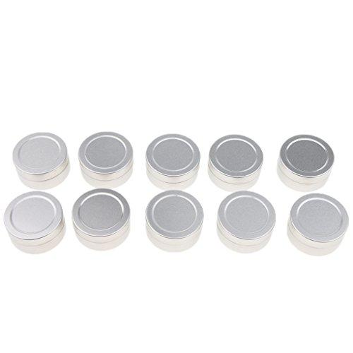 Generic Vaso in Alluminio Da 10 Pezzi, Contenitori Rotondi Da 10 Pezzi Da 10 Ml / 15 Ml - Argento, B-10ML-3,5 x 1,8 cm