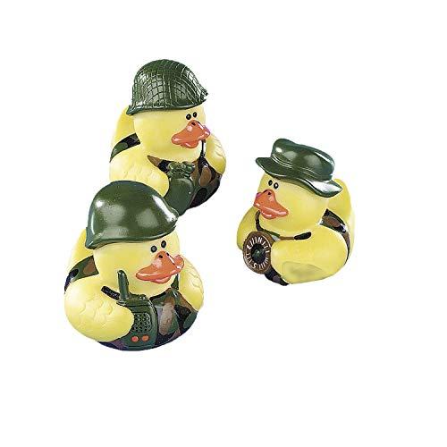 cama24com Gummienten Bundeswehr Soldaten Army 3 Stück mit Palandi® Sticker