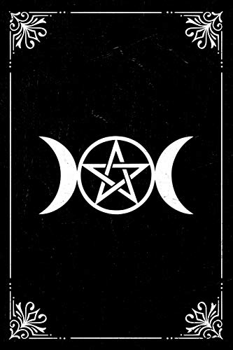 Triple Moon Notebook: Pagan goddess symbol gift journal to connect with your divine feminine. 6 x 9 lined notebook. 150 pages.