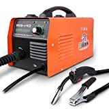 STEGODON MIG 140 Welder Portable Flux Core Wire Automatic Feed 140 Welder Welding Machine w/Free Mask ARC 110V with Electrode Holder,Work Clamp, Input Power Adapter Cable and Brush(Orange)