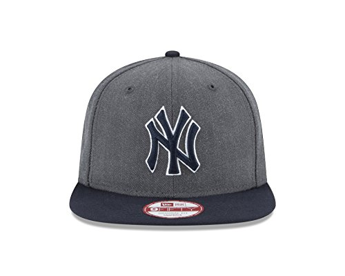 New Era MLB chiné Graphite 9 Fifty Snapback Casquette, Homme, 11190918, Graphite, Taille Unique