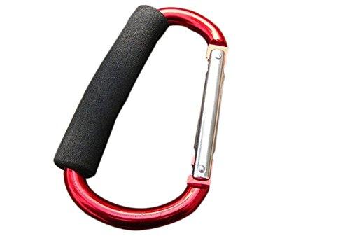 Jungen portátil gancho para bolsas de la compra Carrier labor-saving bolsa Holder (negro)