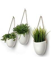 Kazai.® | Ceramic Hanging Planter Vase | Set of 3 | Wall Decor