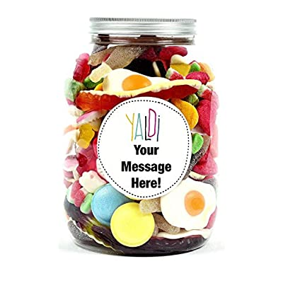 personalised sweet jar gift with your message - classic and retro pic'n'mix. a great idea for any occasion, birthdays, anniversary, christmas for him, her, a boy or girl, a friend. (pink, small) Personalised Sweet jar Gift with Your Message – Classic and Retro pic'n'Mix. A Great idea for Any Occasion, Birthdays… 41lYScs YfL