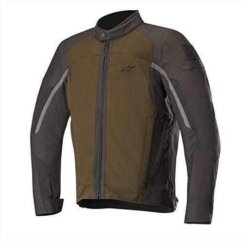 Alpinestars Chaqueta moto Spartan Jacket Teak Black, Marrón/Negro, L (3308118809)