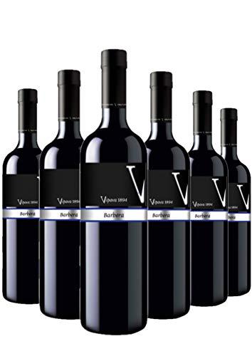 Vipava 1894 Rotwein BARBERA Prestige, von Hand gelesener trockener roter Wein (6 x 0,75 l)
