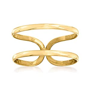 Ross-Simons 14kt Yellow Gold 2-Band Open-Space Ring