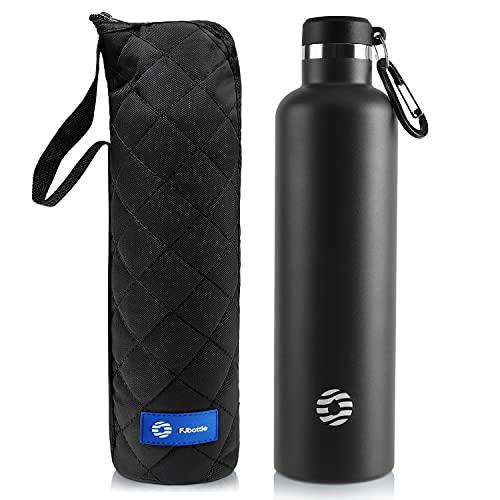 FEIJIAN FJbottle 750/1000ML Vakuum Isolierte Edelstahl Trinkflasche Wasserflasche BPA-frei auslaufsichere Sportflasche Thermosflasche mit Karabinerhaken, für Sport/Outdoor/Camping/Fitness/Yoga/Schule