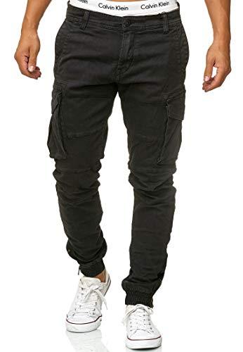 Indicode Herren Alex Cargohose aus Baumwolle mit 6 Taschen | Lange Regular Fit Cargo Hose Baumwollhose Freizeithose Wanderhose Trekkinghose Men Pants Outdoorhose für Männer Black XL