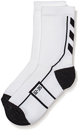 Hummel Kinder Tech Indoor Sock Low, White/Black, 8