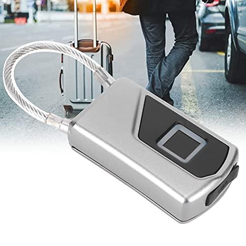 CUEA Cerradura sin Llave, candado de Seguridad Biométrico Inteligente Control de Aplicaciones sensibles Bluetooth antirrobo para Maleta