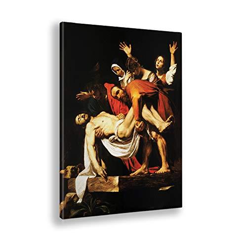 Giallobus - Cuadro - Caravaggio - Pasión de Cristo - Estampado en Lienzo - Listo para Colgar - Varios tamaños - 50x70 cm