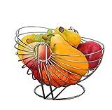 WENHAO LJW Tazón de cerámica Cuenco Cuencos de vitrinas Cesta de frutas de acero inoxidable grande,tazón de fruta europea,cúbito de frutas,sala de estar,cocina,decoración del hogar para la cocina Rega