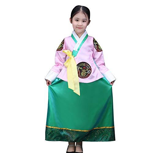 Zhuhaixmy Koreanisches Traditionelles Kleid - Mädchen Retro Palace Langarm Hanbok Party Tanz Outfit Cosplay Kostüm